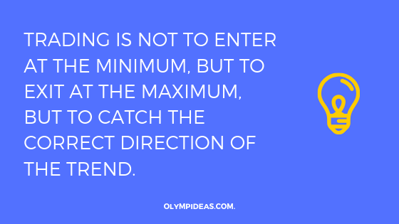 Trading is not to enter at the minimum, but to exit at the maximum, but to catch the correct direction of the trend.